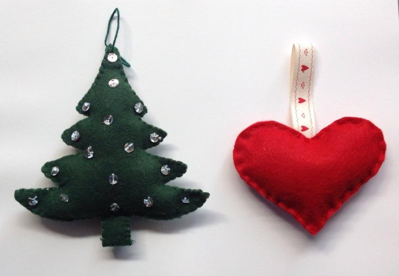 Decori natalizi in pannolenci